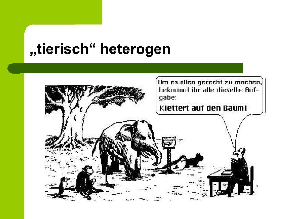 """tierisch heterogen Text im Anhang ""Die Schule der Tiere"
