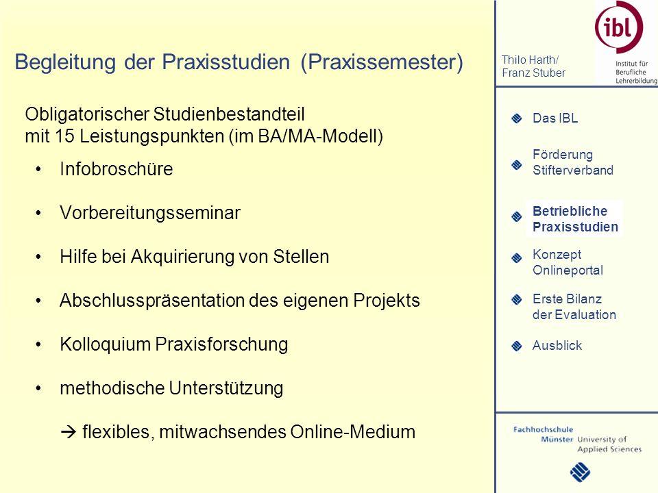 Begleitung der Praxisstudien (Praxissemester)