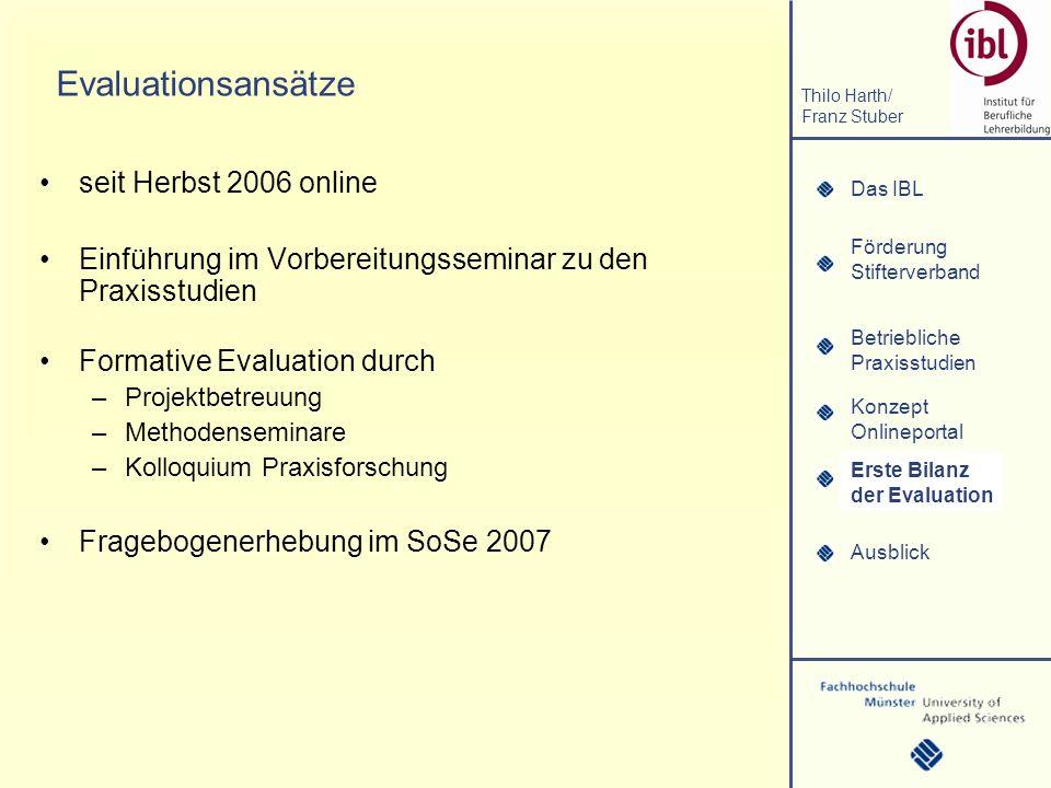 Evaluationsansätze seit Herbst 2006 online
