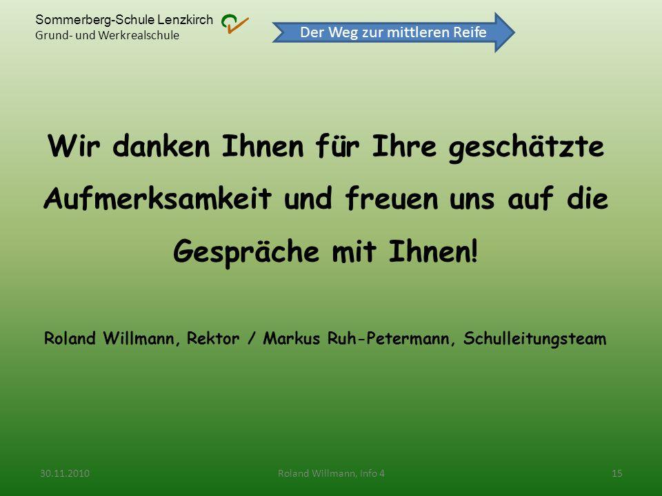 Roland Willmann, Rektor / Markus Ruh-Petermann, Schulleitungsteam