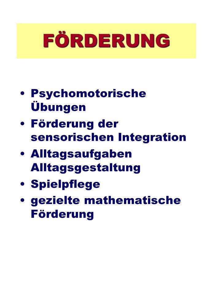 FÖRDERUNG Psychomotorische Übungen