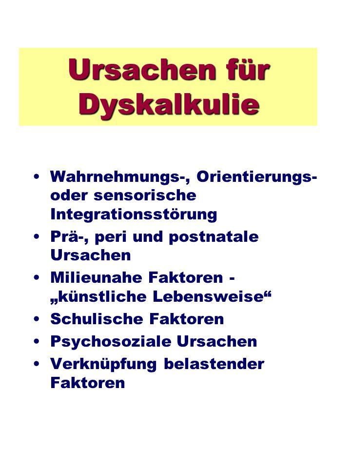 Ursachen für Dyskalkulie