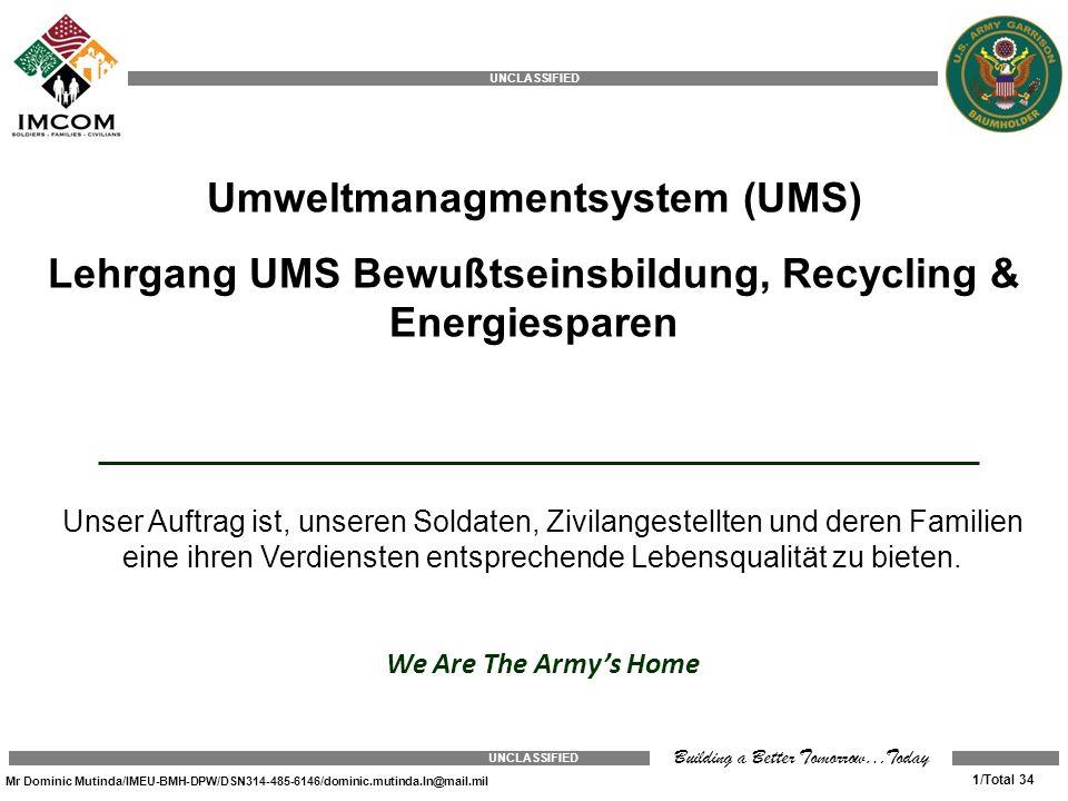 Umweltmanagmentsystem (UMS)