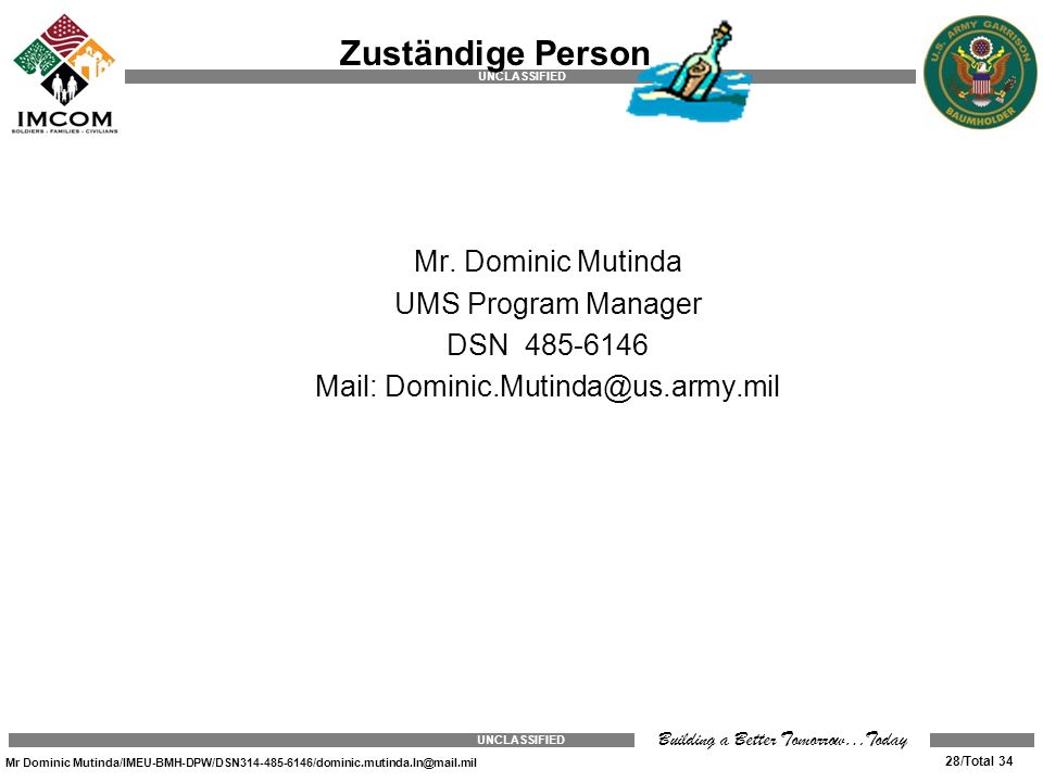 Zuständige Person Mr.