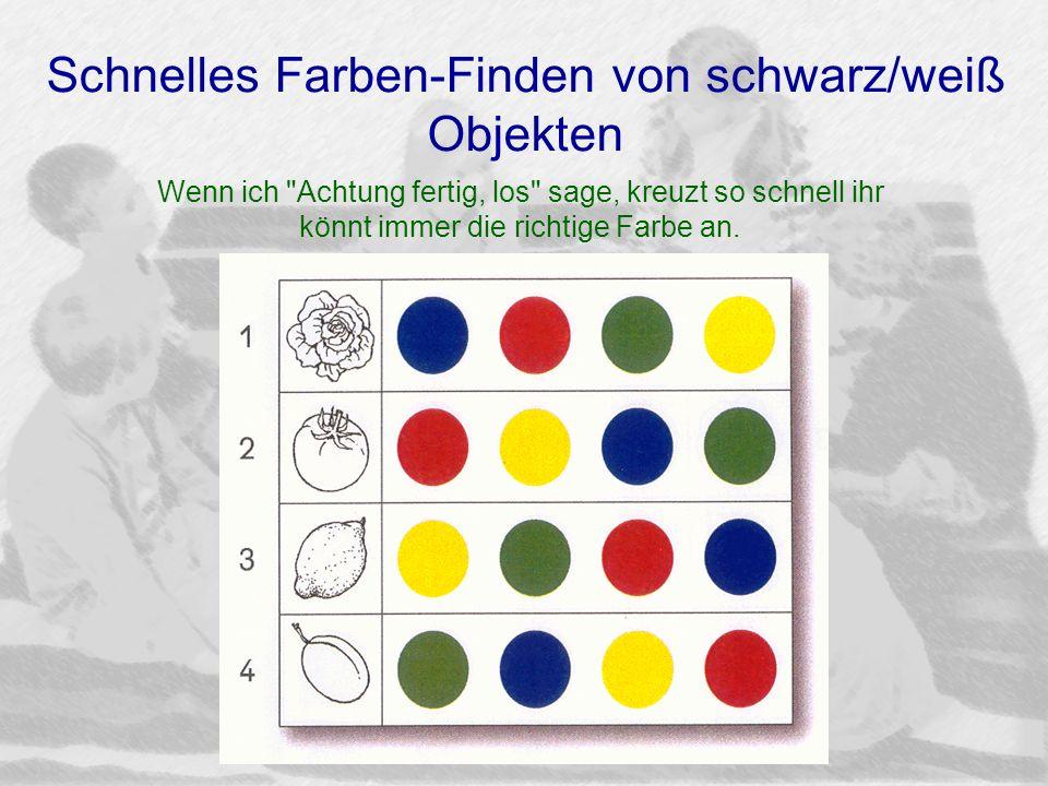 Schnelles Farben-Finden von schwarz/weiß Objekten