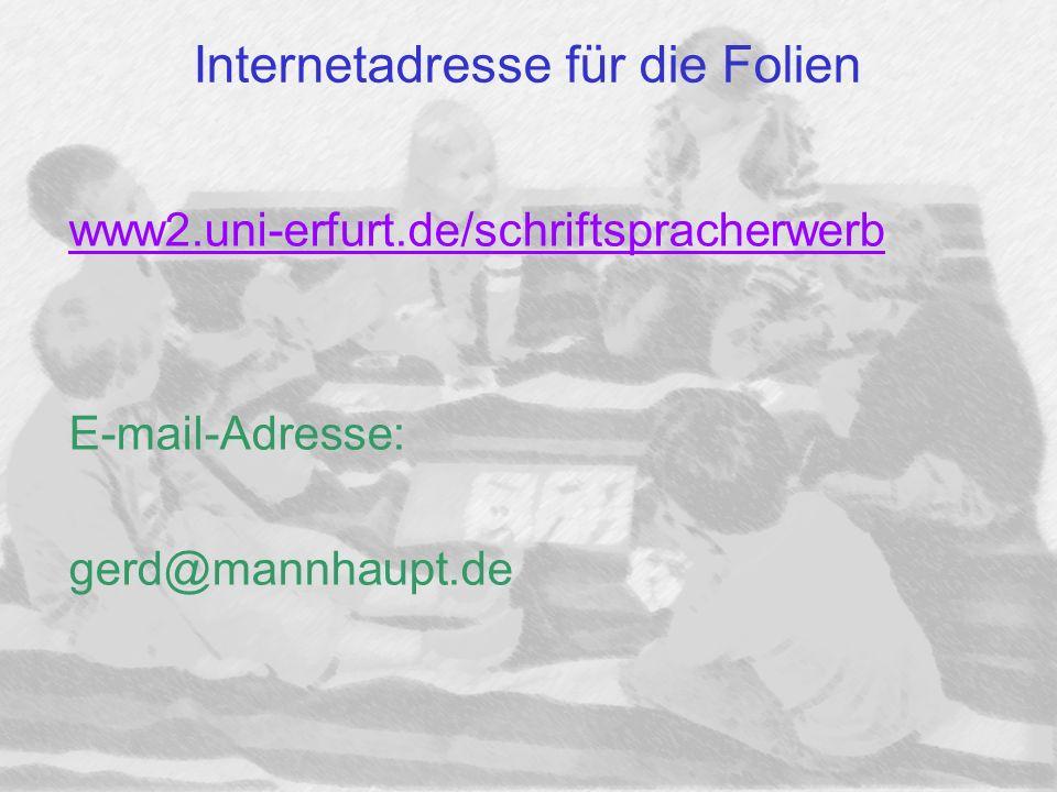 Internetadresse für die Folien