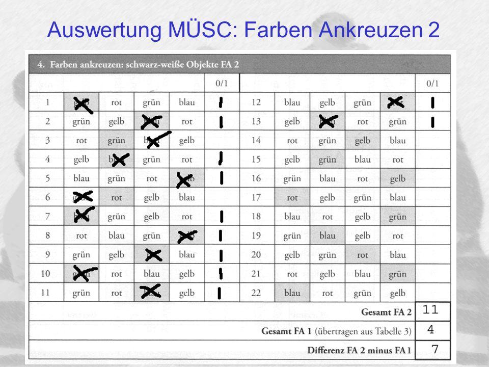 Auswertung MÜSC: Farben Ankreuzen 2