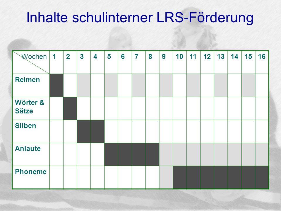Inhalte schulinterner LRS-Förderung