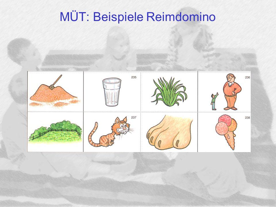 MÜT: Beispiele Reimdomino