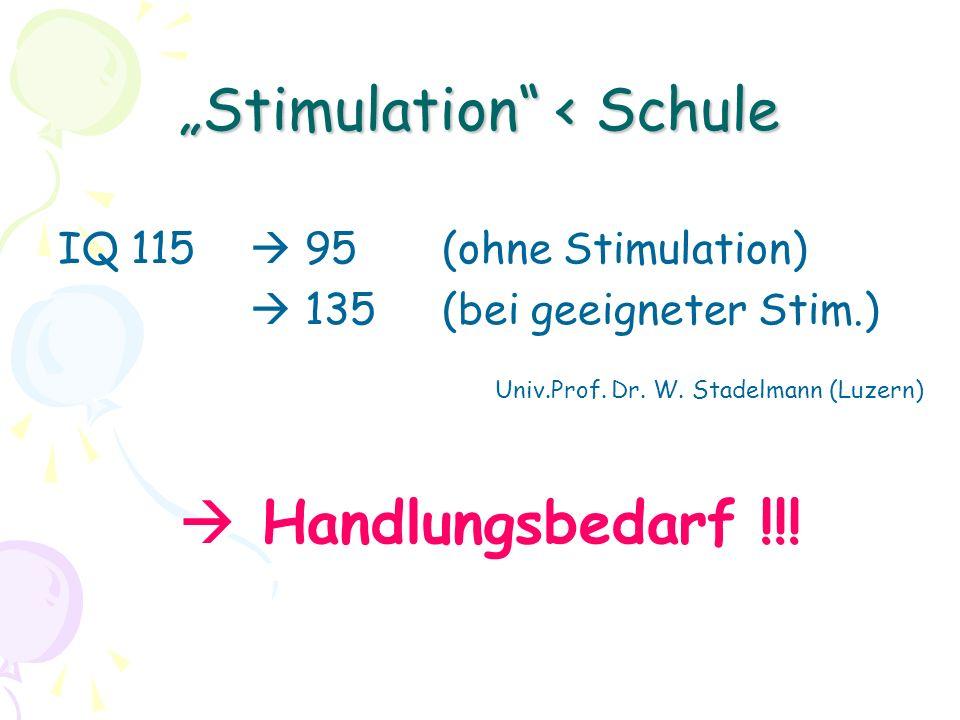 """""""Stimulation < Schule"""