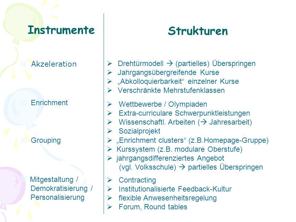 Instrumente Strukturen Mitgestaltung /