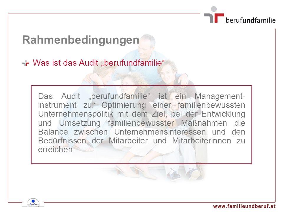 """Rahmenbedingungen Was ist das Audit """"berufundfamilie"""