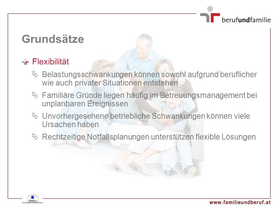 Grundsätze Flexibilität