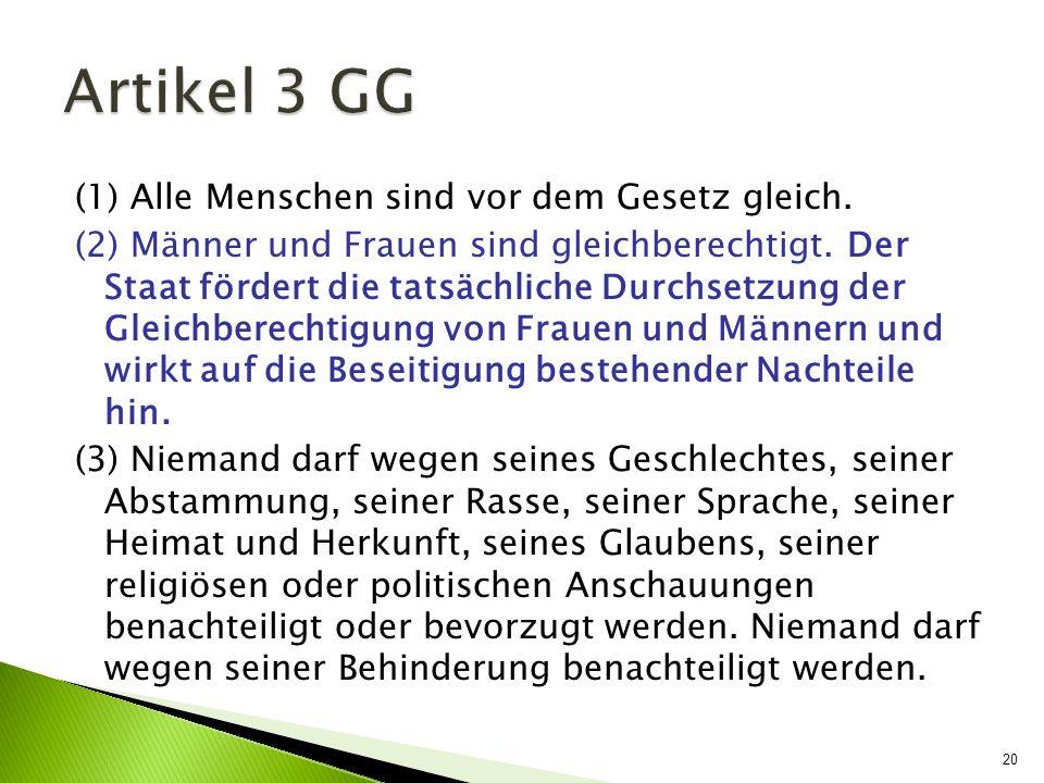 Artikel 3 GG