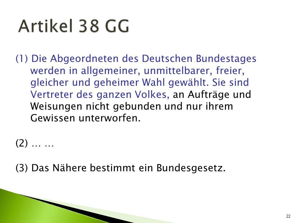 Artikel 38 GG