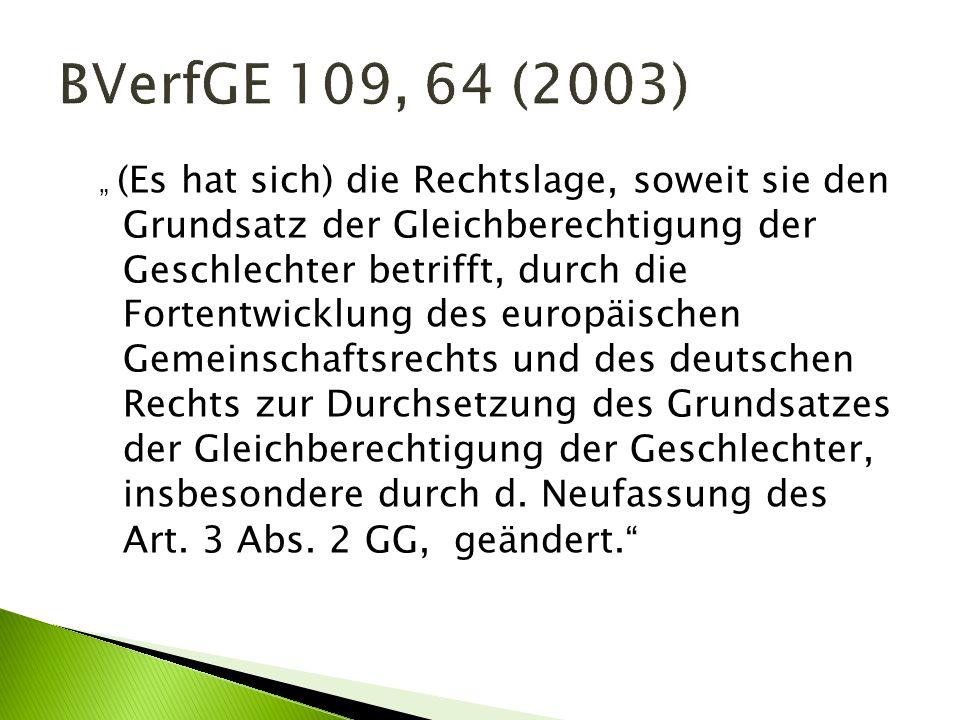 BVerfGE 109, 64 (2003)