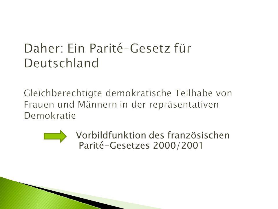 Vorbildfunktion des französischen Parité-Gesetzes 2000/2001