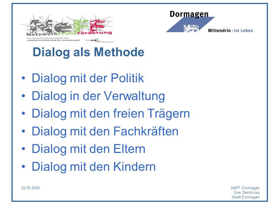 Dialog in der Verwaltung Dialog mit den freien Trägern
