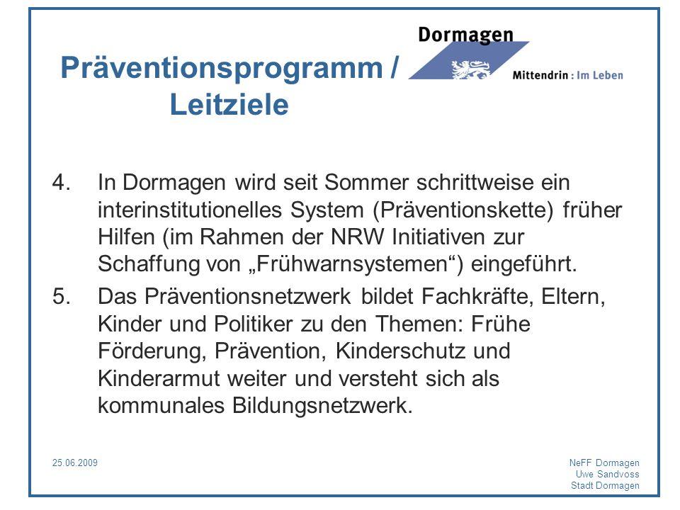 Präventionsprogramm / Leitziele