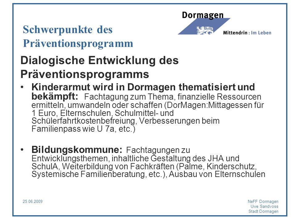 Schwerpunkte des Präventionsprogramm