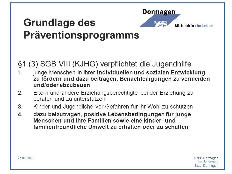 Grundlage des Präventionsprogramms