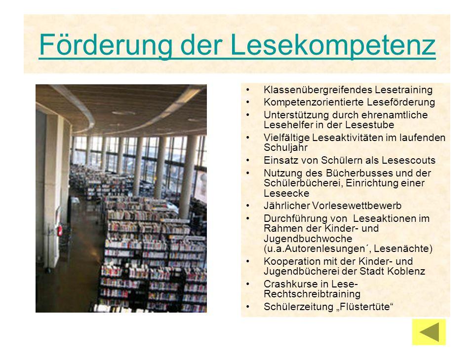 Förderung der Lesekompetenz