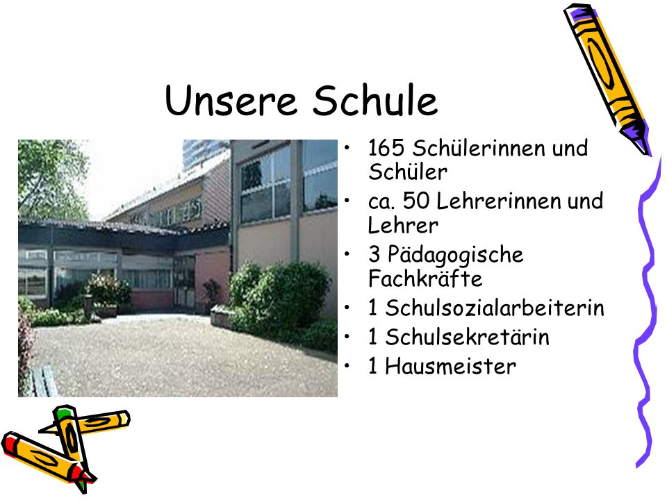 Unsere Schule 165 Schülerinnen und Schüler