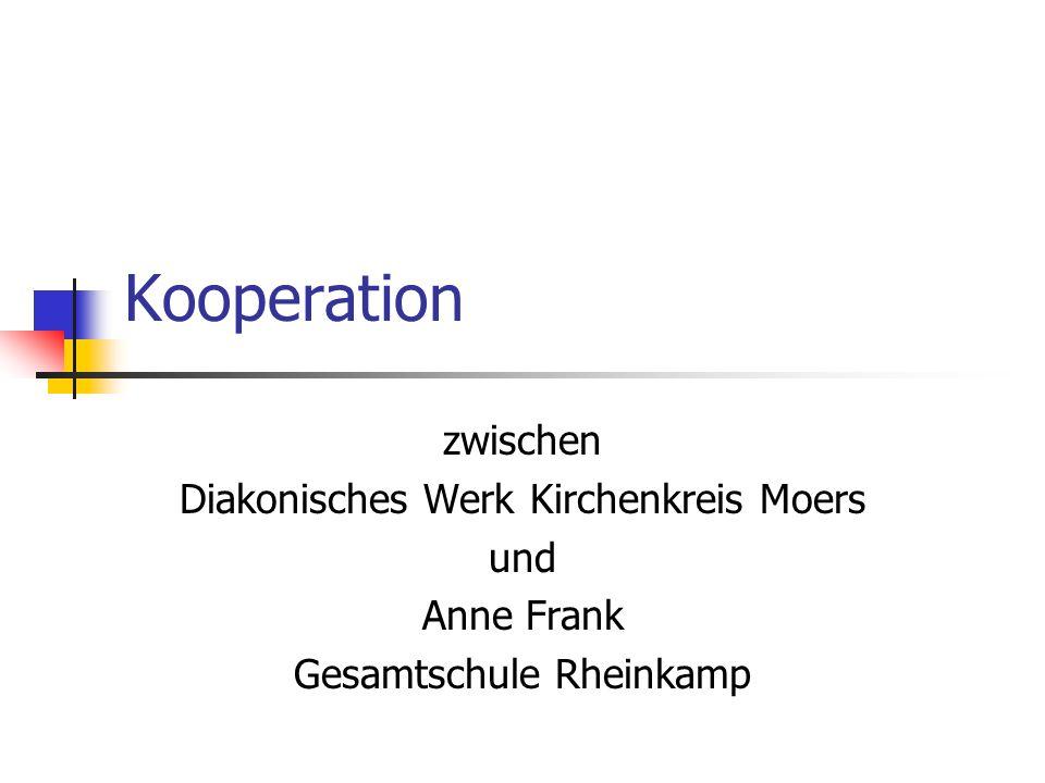Kooperation zwischen Diakonisches Werk Kirchenkreis Moers und