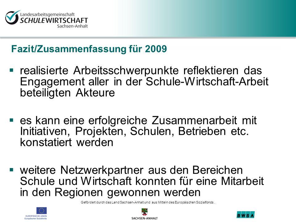 Fazit/Zusammenfassung für 2009