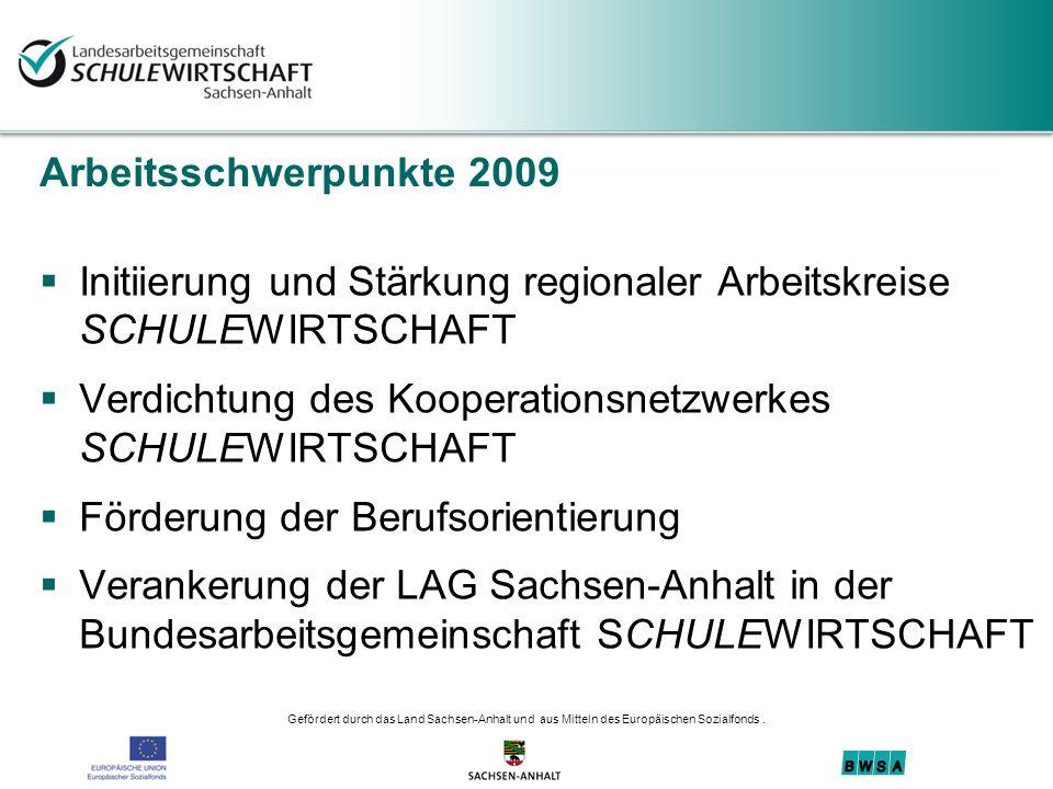 Initiierung und Stärkung regionaler Arbeitskreise SCHULEWIRTSCHAFT