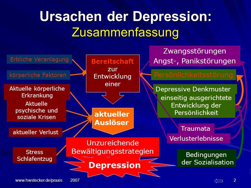 Ursachen der Depression: Zusammenfassung