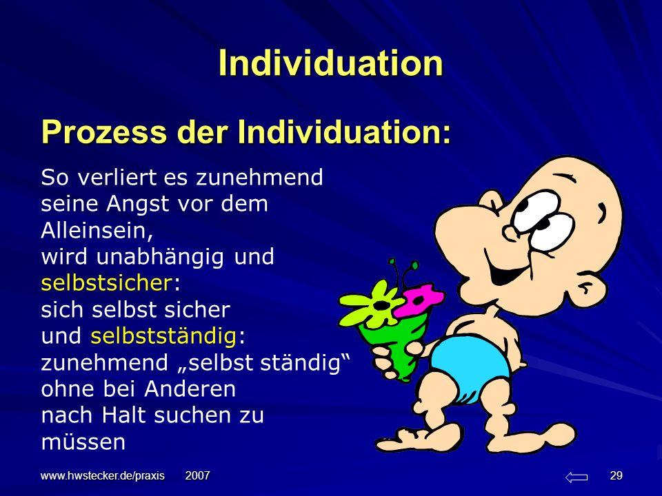 Individuation Prozess der Individuation: