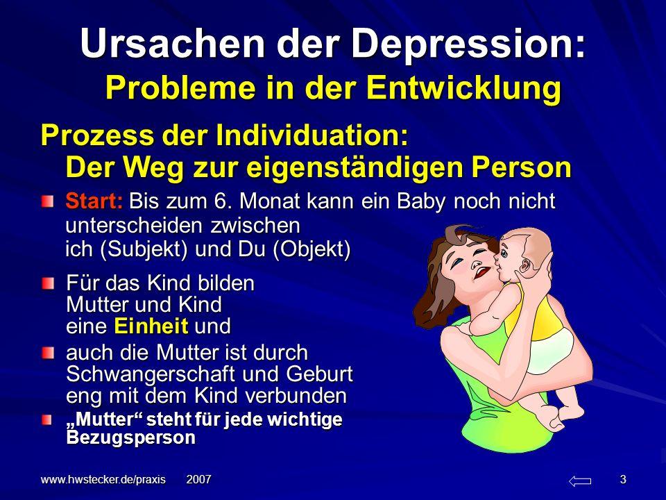 Ursachen der Depression: Probleme in der Entwicklung