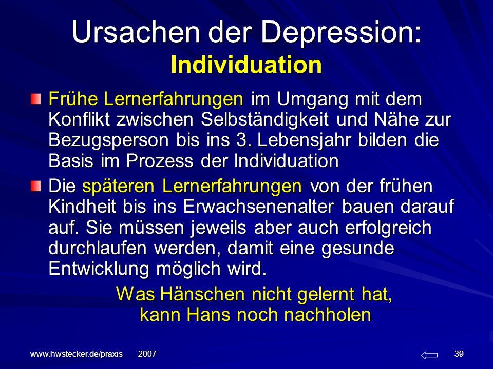 Ursachen der Depression: Individuation
