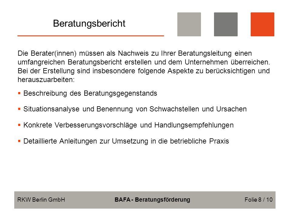 BAFA - Beratungsförderung
