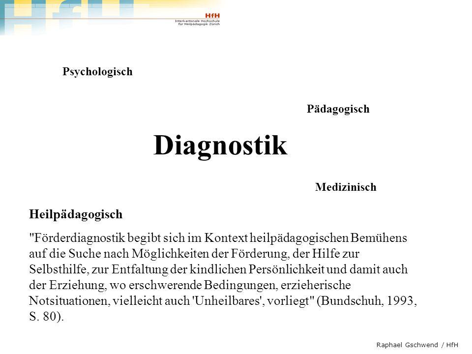 Diagnostik Heilpädagogisch