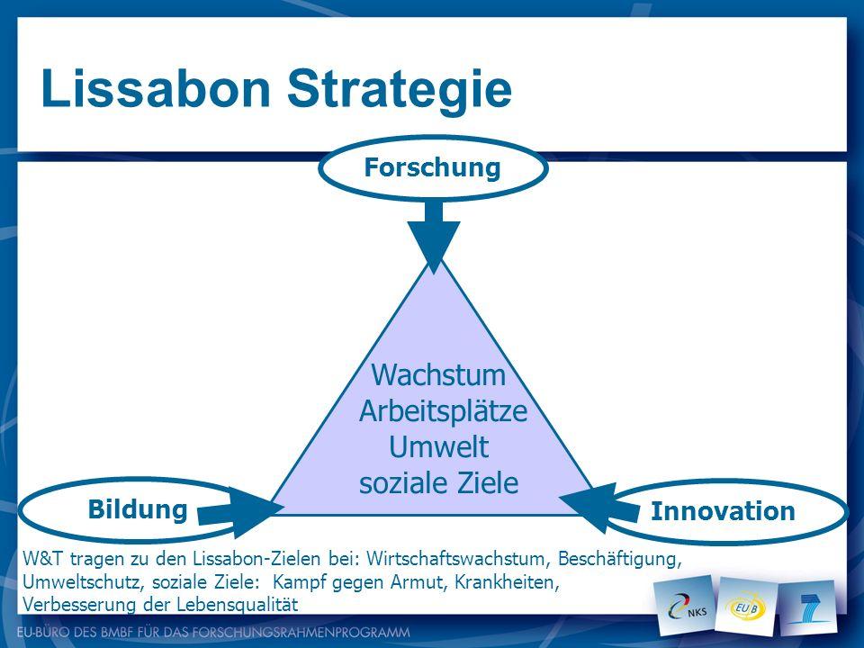 Lissabon Strategie Wachstum Arbeitsplätze Umwelt soziale Ziele