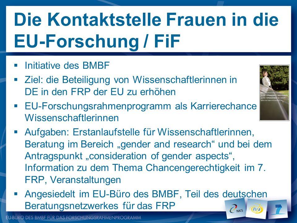 Die Kontaktstelle Frauen in die EU-Forschung / FiF