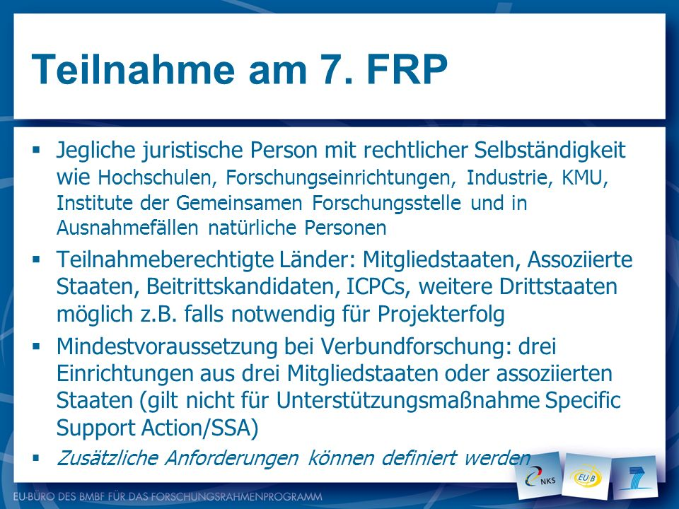 Teilnahme am 7. FRP