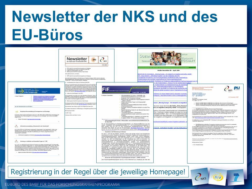 Newsletter der NKS und des EU-Büros