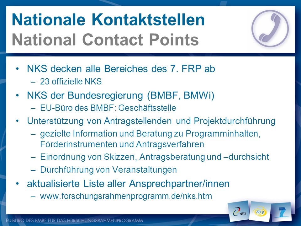 Nationale Kontaktstellen National Contact Points