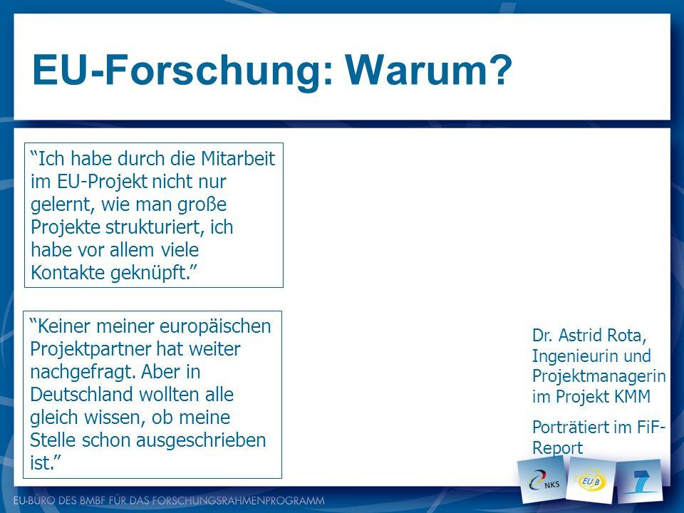 EU-Forschung: Warum