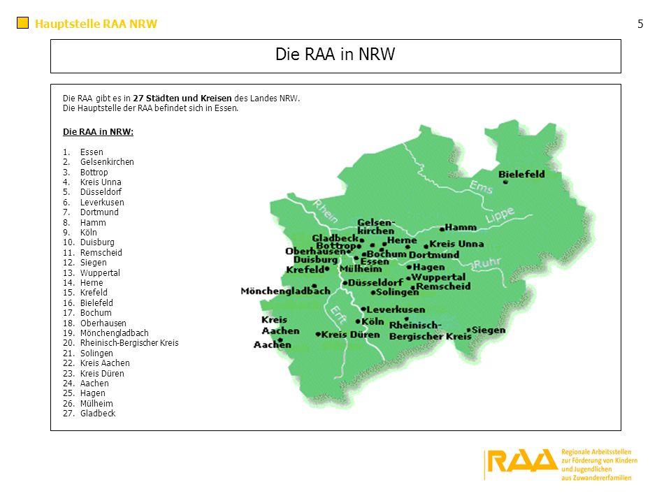 Die RAA in NRW Hauptstelle RAA NRW 5