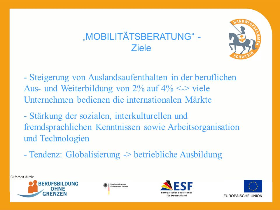 """MOBILITÄTSBERATUNG - Ziele"