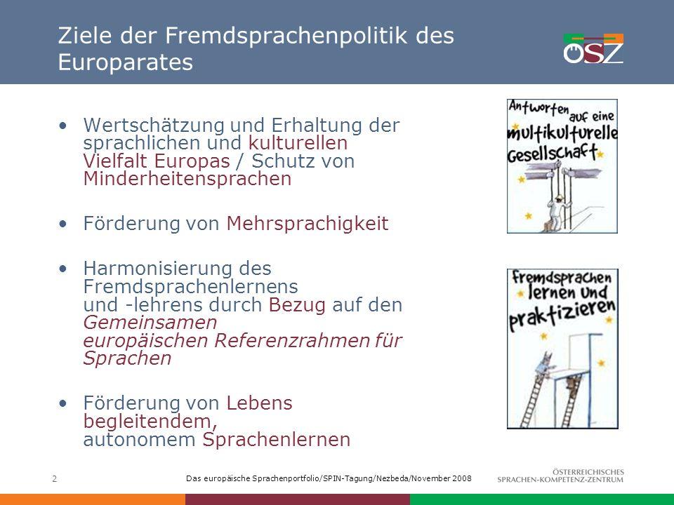 Ziele der Fremdsprachenpolitik des Europarates
