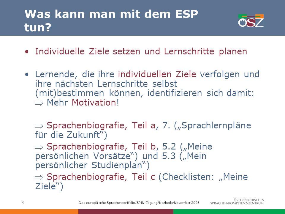 Was kann man mit dem ESP tun