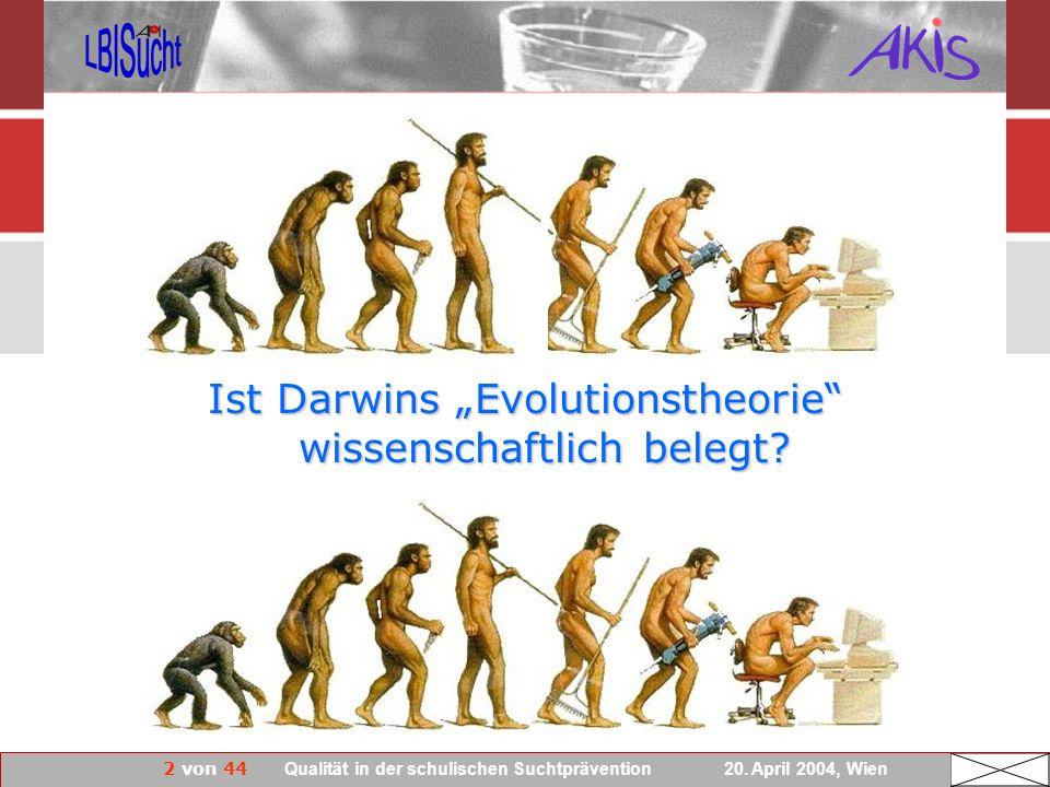 """Ist Darwins """"Evolutionstheorie wissenschaftlich belegt"""