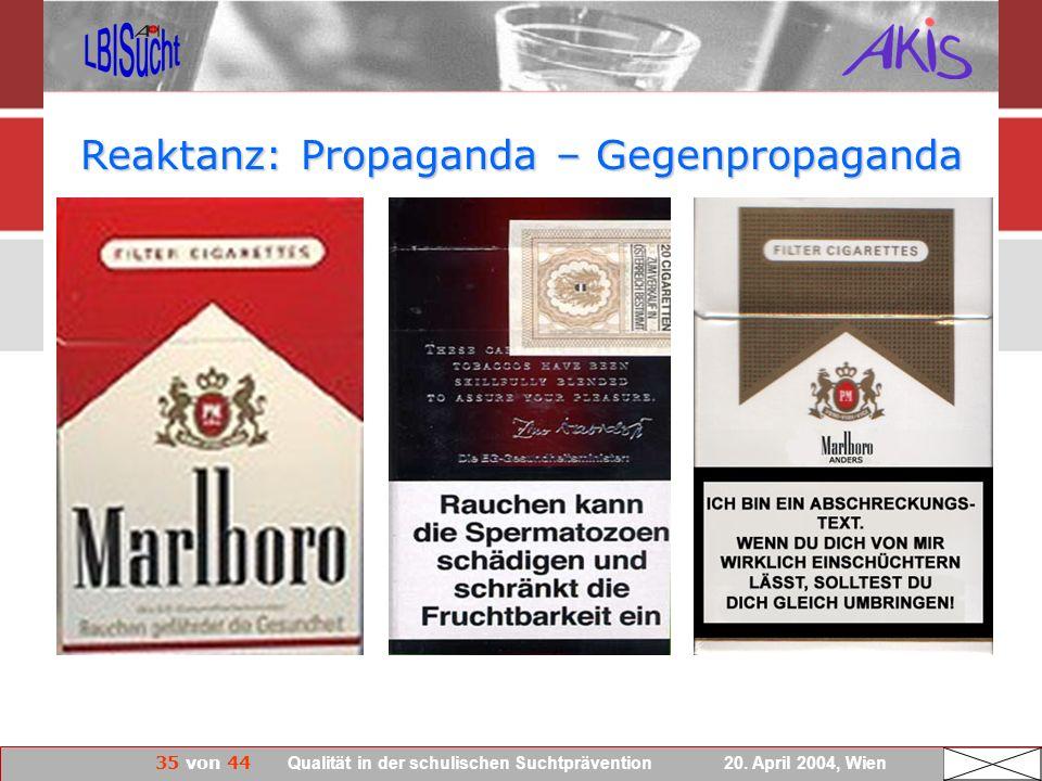 Reaktanz: Propaganda – Gegenpropaganda