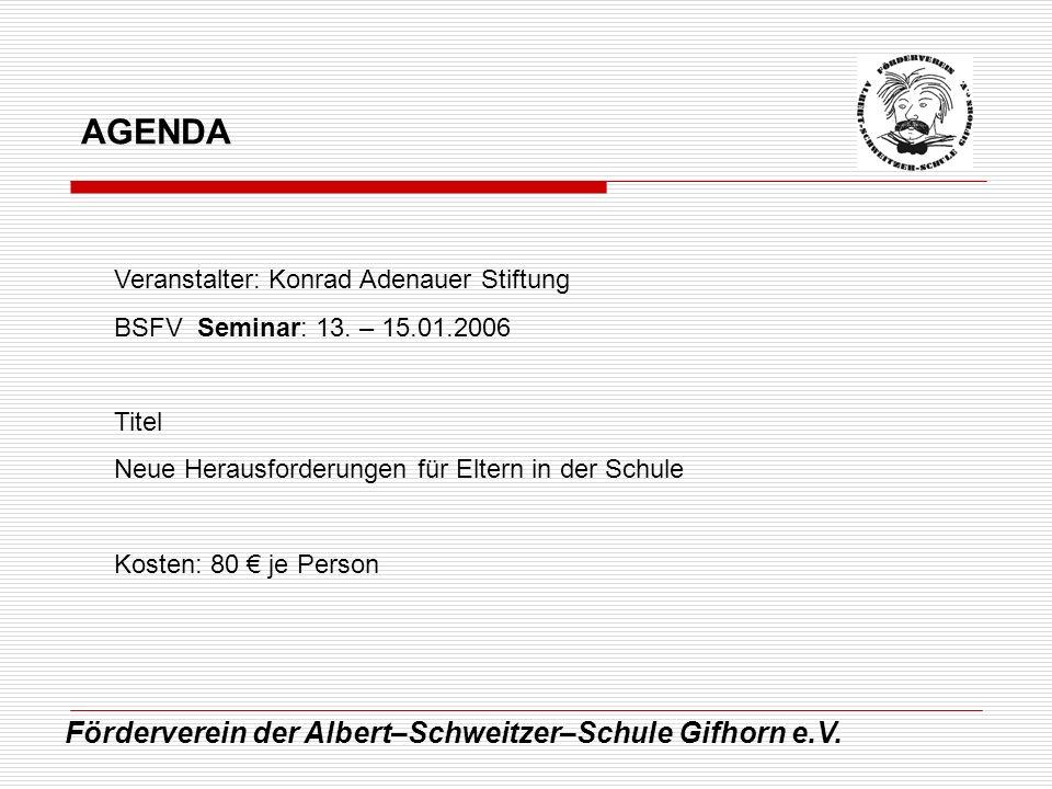 AGENDA Förderverein der Albert–Schweitzer–Schule Gifhorn e.V.