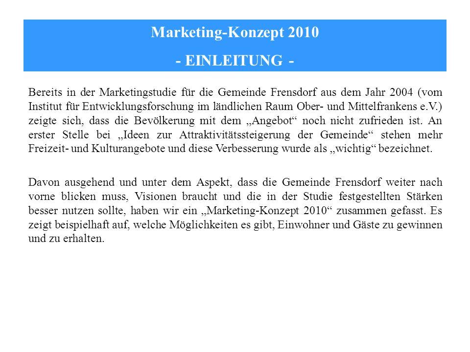 Marketing-Konzept 2010 - EINLEITUNG -